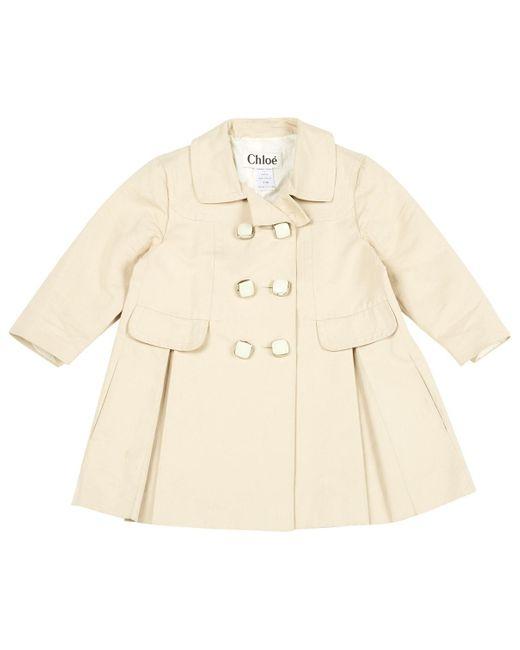Chloé Natural Beige Cotton Leather Jacket