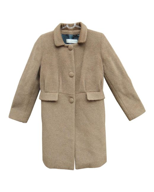 Golden Goose Deluxe Brand - Natural Beige Wool Coat - Lyst