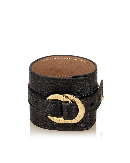 BVLGARI | Black Pre-owned Leather Bracelet | Lyst