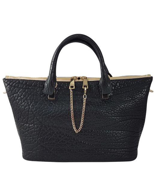 Chloé - Black Pre-owned Baylee Leather Handbag - Lyst