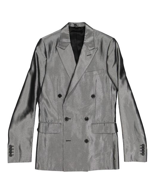Dior Metallic Silver Viscose Jacket for men