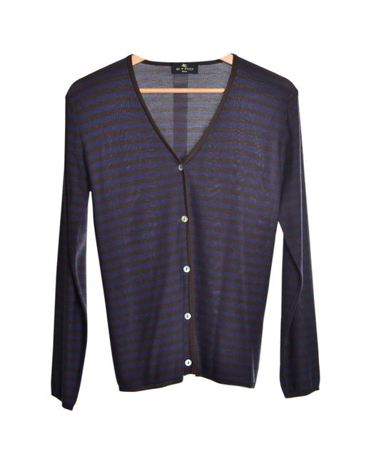 Etro | Pre-owned Blue Cotton Knitwear for Men | Lyst