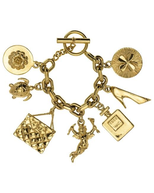 Chanel   Metallic Pre-owned Gold Metal Bracelet   Lyst