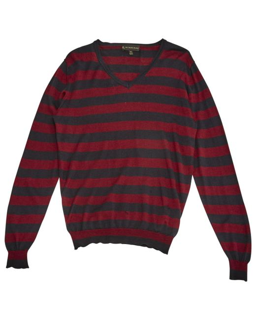Burberry - Red Cashmere Jumper - Lyst