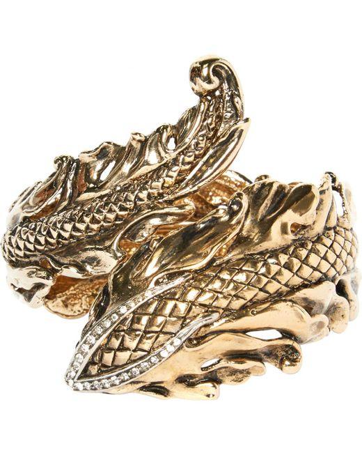 Roberto Cavalli | Metallic Pre-owned Gold Steel Bracelet | Lyst