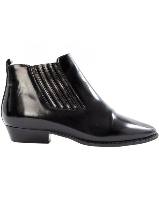 Isabel Marant - Black Patent Leather Ankle Boots - Lyst