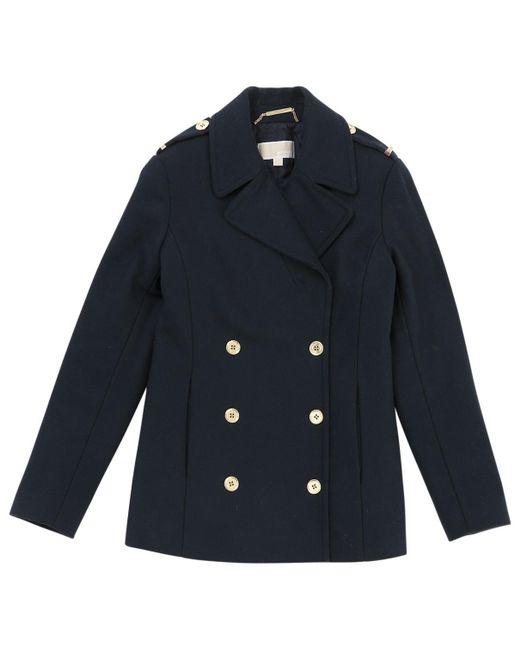 Michael Kors - Blue Wool Coat for Men - Lyst