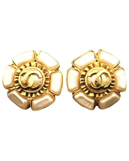 Chanel   Metallic Pre-owned Jade Earrings   Lyst
