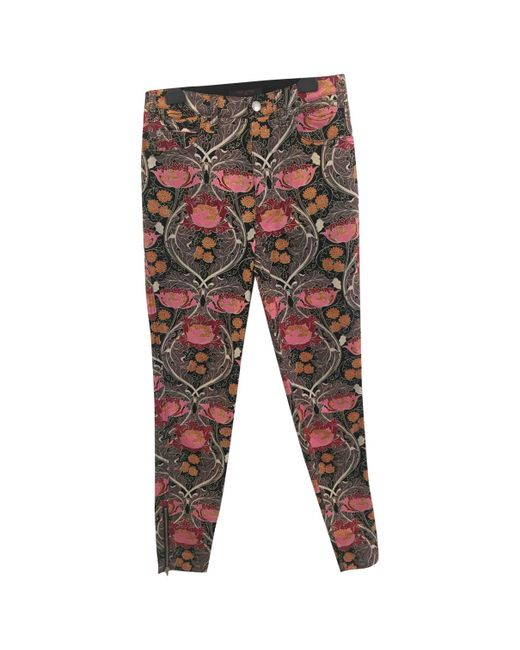 Louis Vuitton - Multicolor Pre-owned Multicolour Cotton Trousers - Lyst