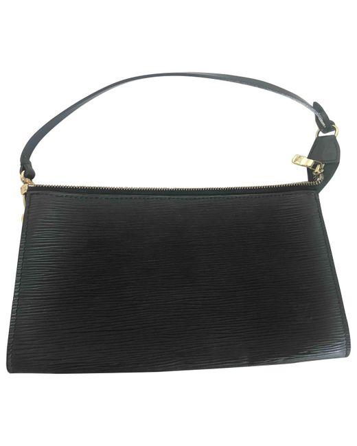 Louis Vuitton - Black Pre-owned Pochette Accessoire Leather Handbag - Lyst