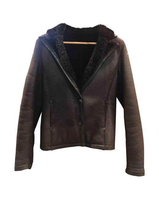 Loewe - Brown Leather Short Vest - Lyst
