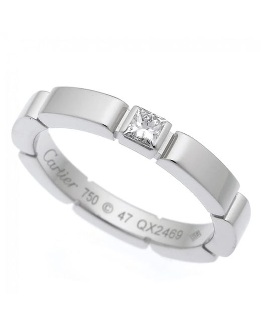 Cartier | Metallic Maillon Panthère White Gold Ring | Lyst