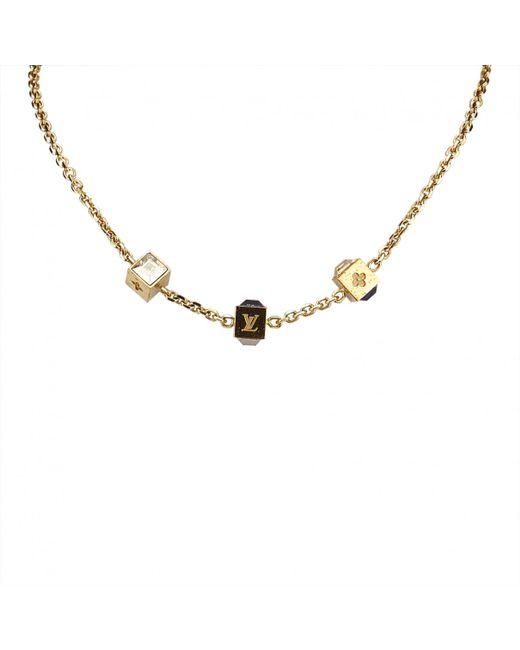 Louis Vuitton - Metallic Necklace - Lyst