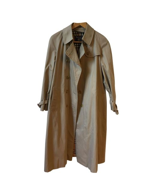 d391002c78eb Burberry - Natural Pre-owned Vintage Beige Polyester Trench Coats - Lyst