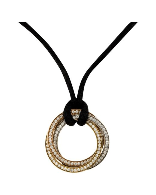 Cartier - Metallic Trinity Yellow Gold Necklace - Lyst