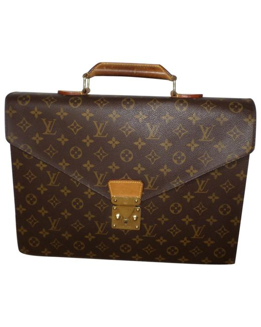 Louis Vuitton - Brown Pre-owned Cloth Satchel - Lyst