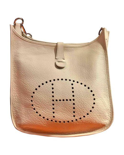 Hermès Natural Evelyne Other Leather Handbag