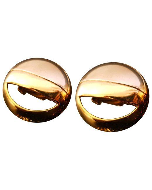 Lanvin - Metallic Vintage Silver Metal Earrings - Lyst
