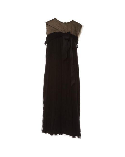 Lanvin - Pre-owned Black Silk Dresses - Lyst