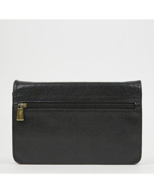 ... Chanel - Black Leather Crossbody Bag - Lyst ... 2d5c99fbaf774