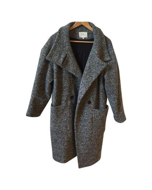 IRO - Gray Wool Coat - Lyst