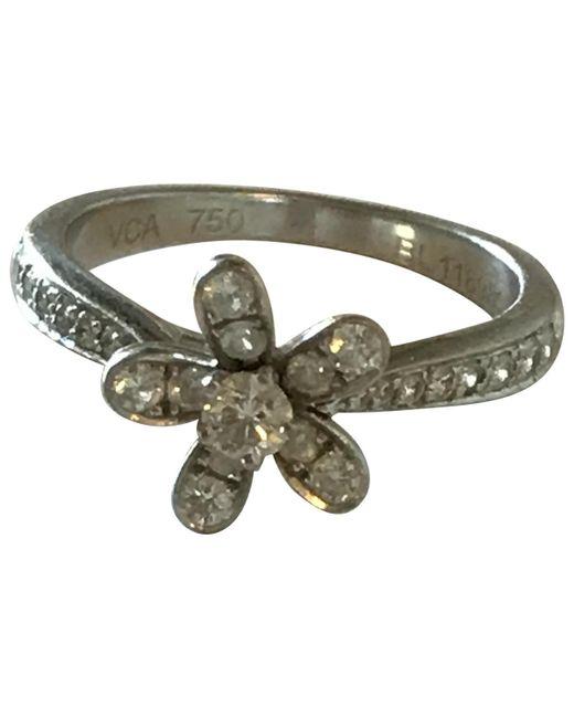 Van Cleef & Arpels - Metallic White Gold Ring - Lyst