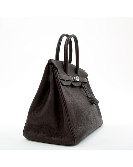 a3e1d3c2a6 Sac à main Birkin 35 en cuir Hermès en coloris Marron - Lyst