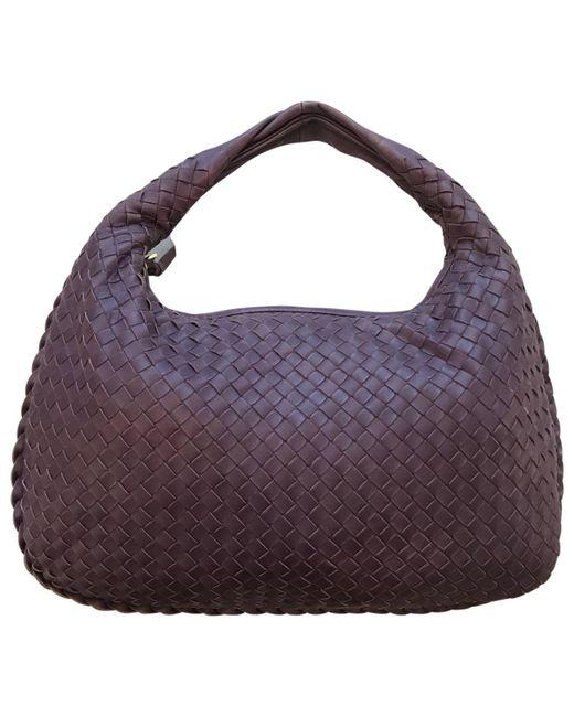 Bottega Veneta - Purple Veneta Leather Handbag - Lyst