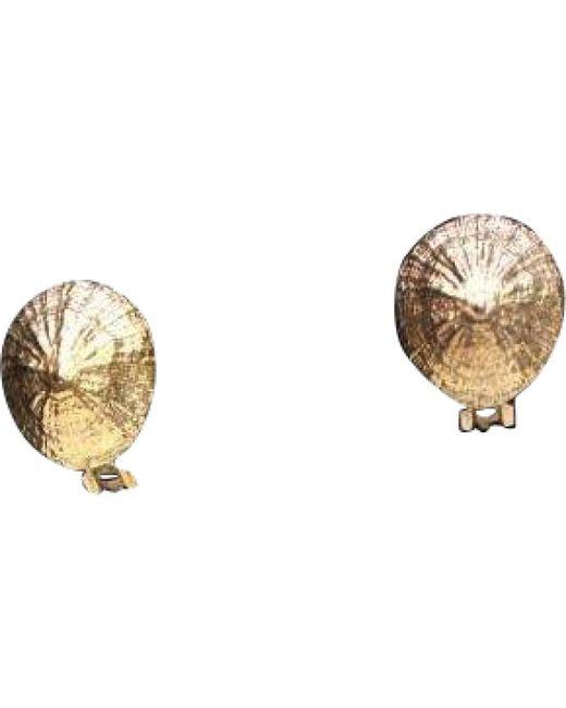 Hermès - Metallic Pre-owned Gold Metal Earrings - Lyst
