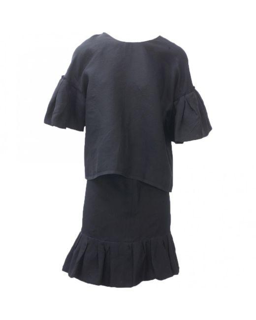 Lanvin - Black Silk Jumpsuits - Lyst