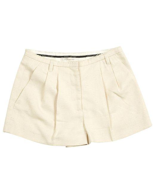Marc Jacobs - Natural Ecru Silk Shorts - Lyst