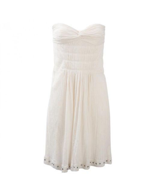 Étoile Isabel Marant - Multicolor Ecru Cotton Dress - Lyst