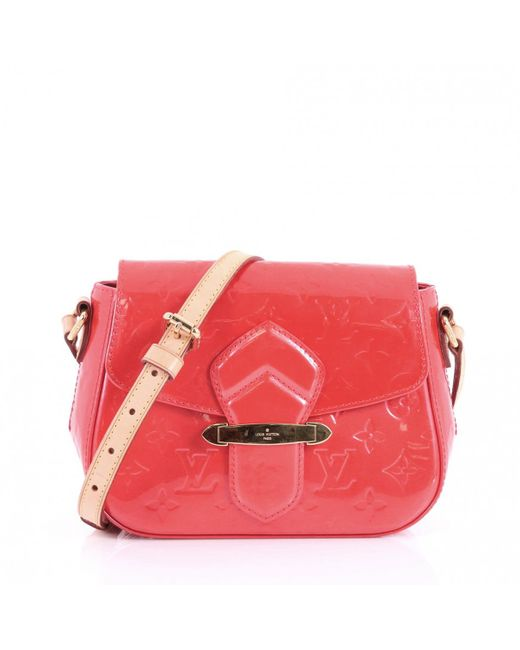 Louis Vuitton Pre Owned Pink Patent Leather Handbags Lyst