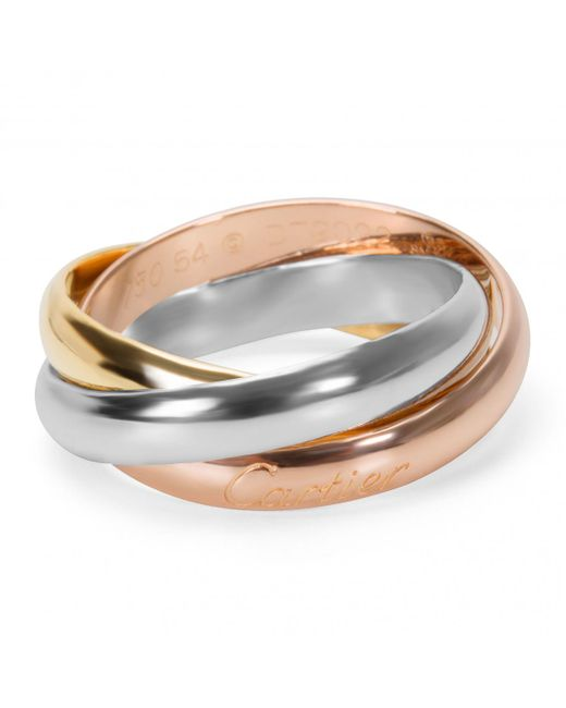 Cartier - Metallic Trinity Yellow Gold Ring - Lyst