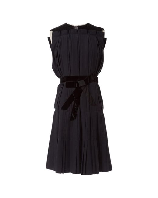 Lanvin - Black Wool Dress - Lyst