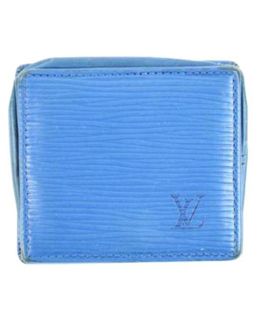 Louis Vuitton - Blue Leather - Lyst