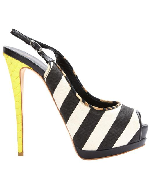 Giuseppe Zanotti - Pre-owned Black Cloth Heels - Lyst