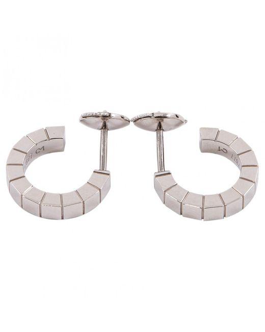 Cartier - Metallic White Gold Earrings - Lyst