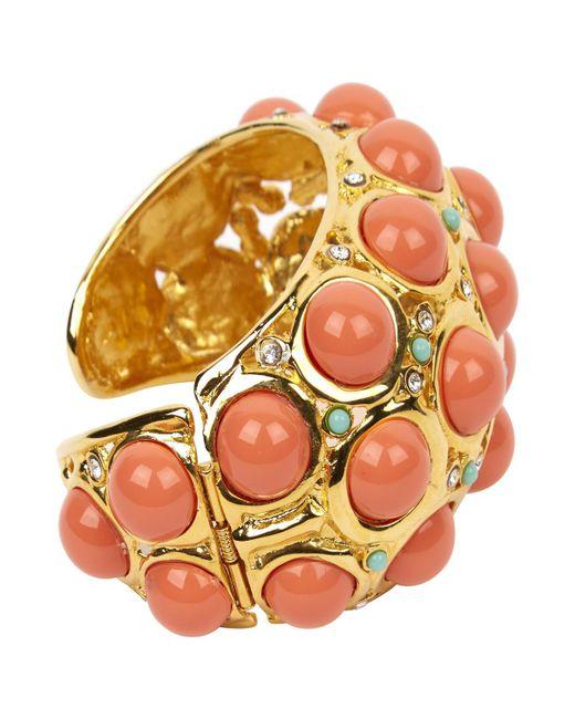 Lanvin - Metallic Gold Metal Bracelets - Lyst