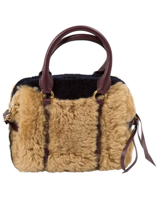 19dde3bac0f2 Lyst - Burberry Wool Handbag in Natural