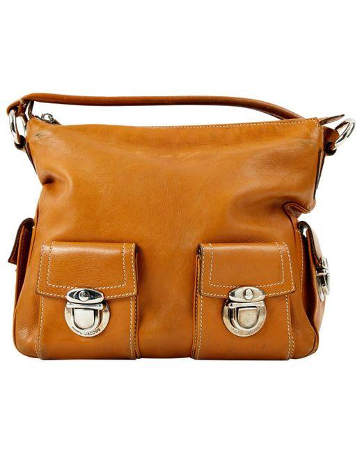 382cf954dc86 Lyst - Marc Jacobs Brown Leather Handbag in Brown