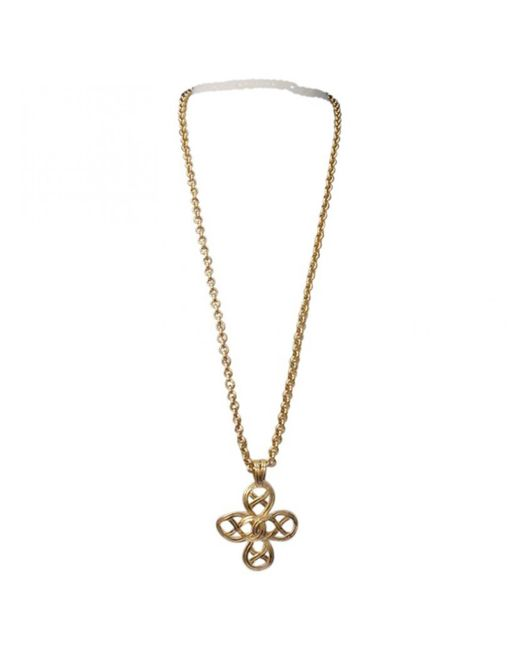 Chanel - Metallic Pre-owned Vintage Gold Metal Necklaces - Lyst