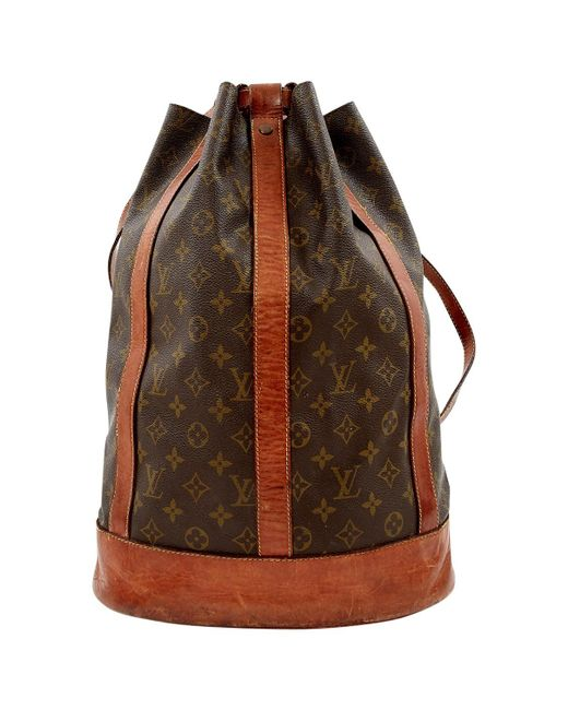 Louis Vuitton - Brown Cloth Backpack - Lyst
