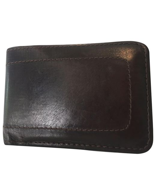 Louis Vuitton - Brown Leather Small Bag for Men - Lyst
