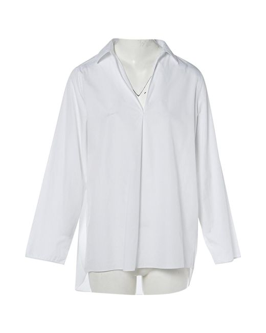 Acne - White Cotton Top - Lyst