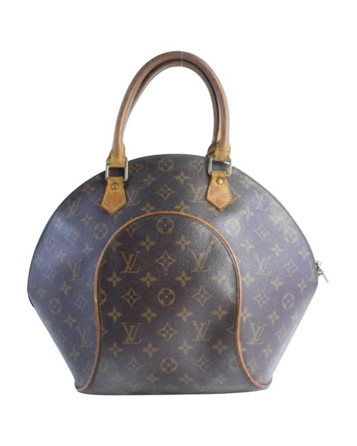 204b59ccf211 Lyst - Louis Vuitton Pre-owned Vintage Ellipse Brown Cloth Handbags ...