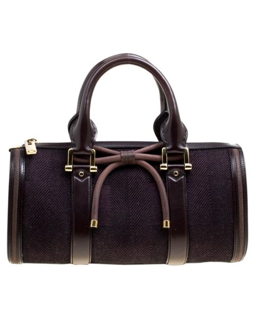 646646493c84 Lyst - Burberry Pre-owned The Barrel Purple Leather Handbags in ...