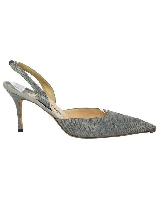 3dadb8cbb56 Manolo Blahnik - Gray Vintage Grey Lizard Heels - Lyst ...