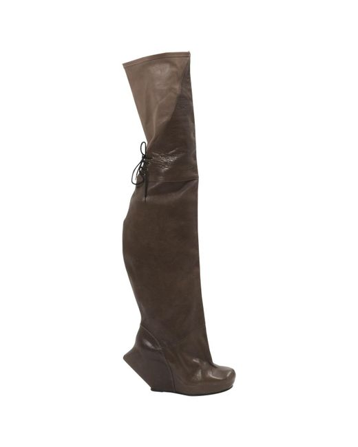 Rick Owens - Brown Leather Boots - Lyst