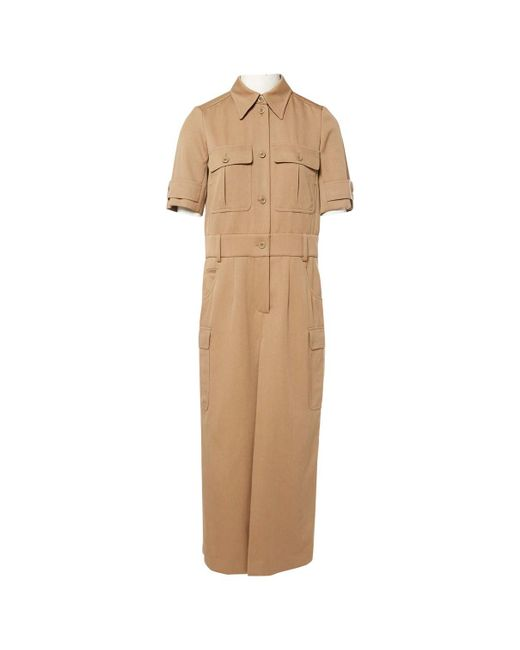 Chloé - Natural Pre-owned Wool Jumpsuit - Lyst